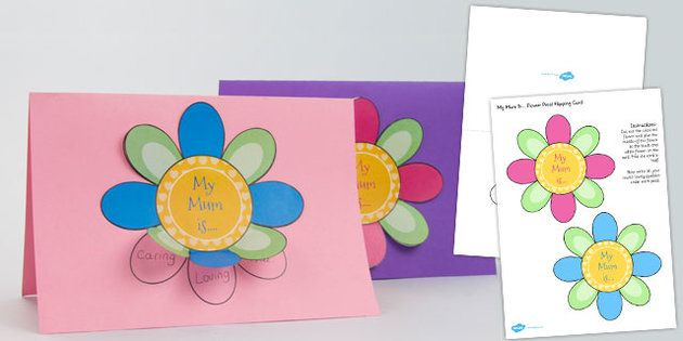 Make your mum smile on Sunday with this Mother's Day Flap Flower Card - twinkl