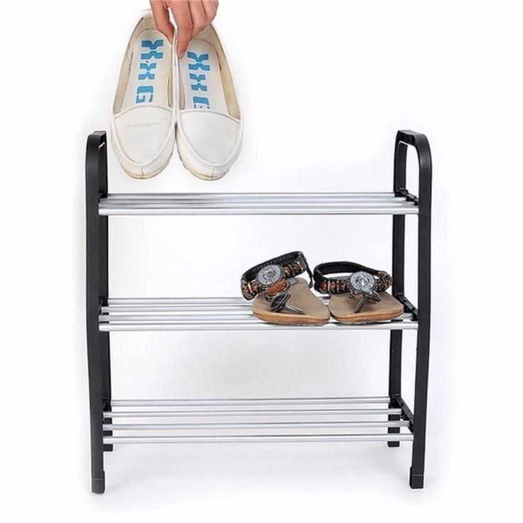Unggul 3 Tingkatan Sepatu Plastik Rak Penyimpanan Pemegang Organizer Berdiri Rak Unit Light FG