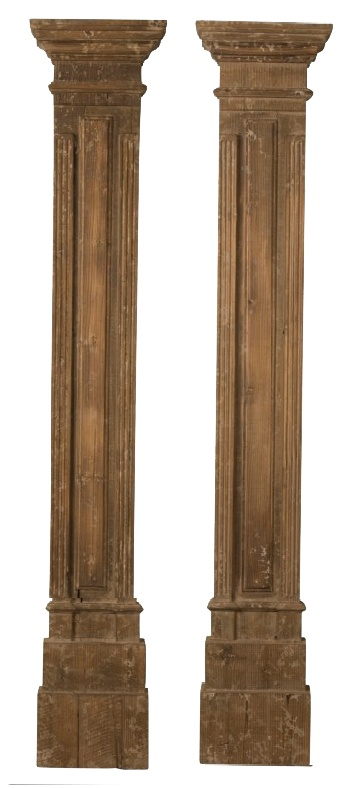 Square antique wood columns pillars and columns pinterest for Architectural wood columns