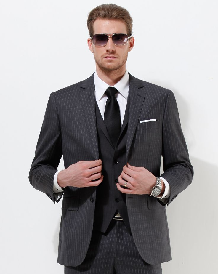 The 25  best Black pinstripe suit ideas on Pinterest | Executive ...