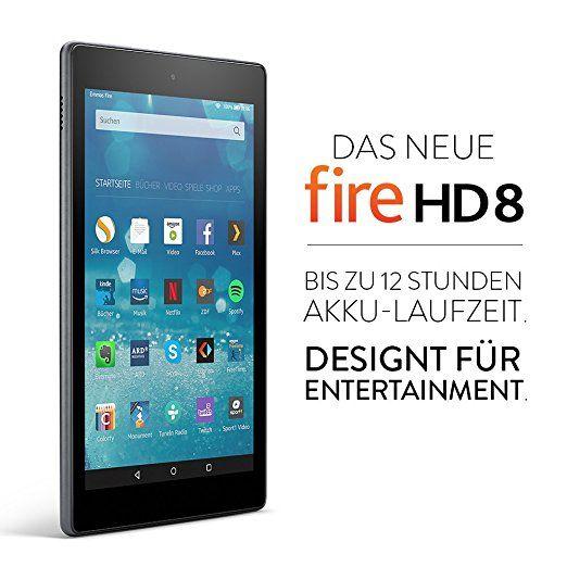 Das neue Fire HD 8-Tablet, 20,3 cm (8 Zoll) HD Display, WLAN, 16 GB (Schwarz) - mit Spezialangeboten