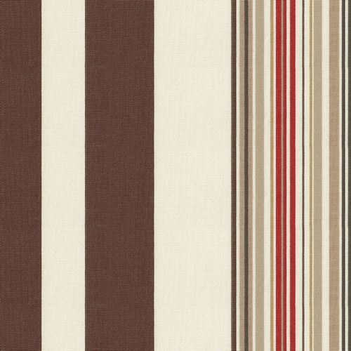 Red and Brown Stripe Fabric | Carousel Designs