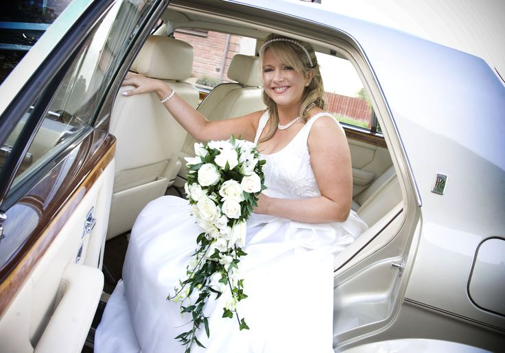 A must-have image from your wedding day - arriving in a Rolls-Royce. Available from www.goldchoiceweddingcars.co.uk