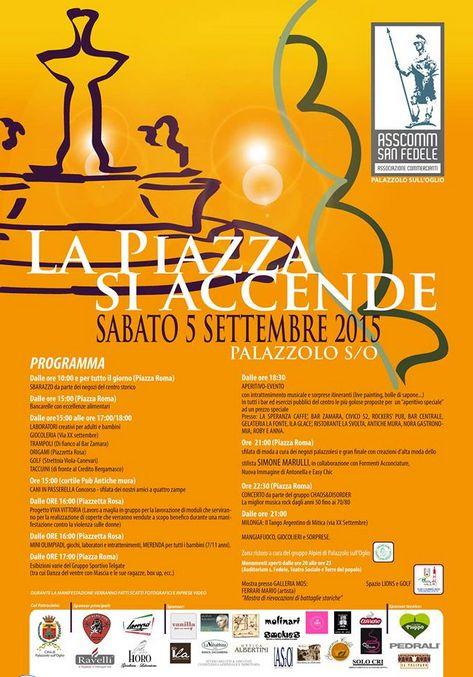 La Piazza si Accende a Palazzolo http://www.panesalamina.com/2015/40410-la-piazza-si-accende-a-palazzolo.html