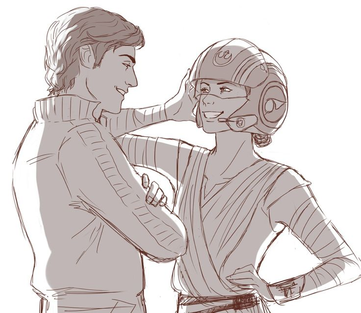rey and poe dameron relationship