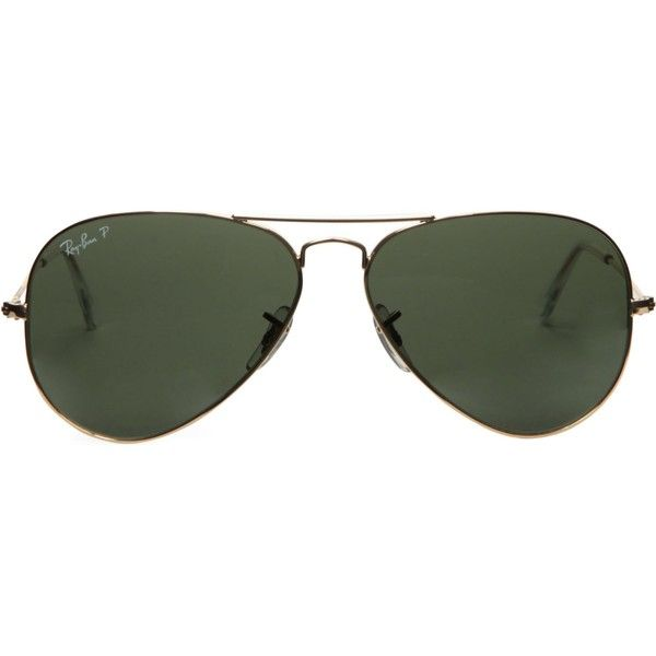 Ray-Ban Original aviator metal-frame sunglasses RB3025 58 found on Polyvore featuring accessories, eyewear, sunglasses, glasses, aviator sunglasses, aviator style sunglasses, military aviator sunglasses, ray ban glasses and metal aviator sunglasses