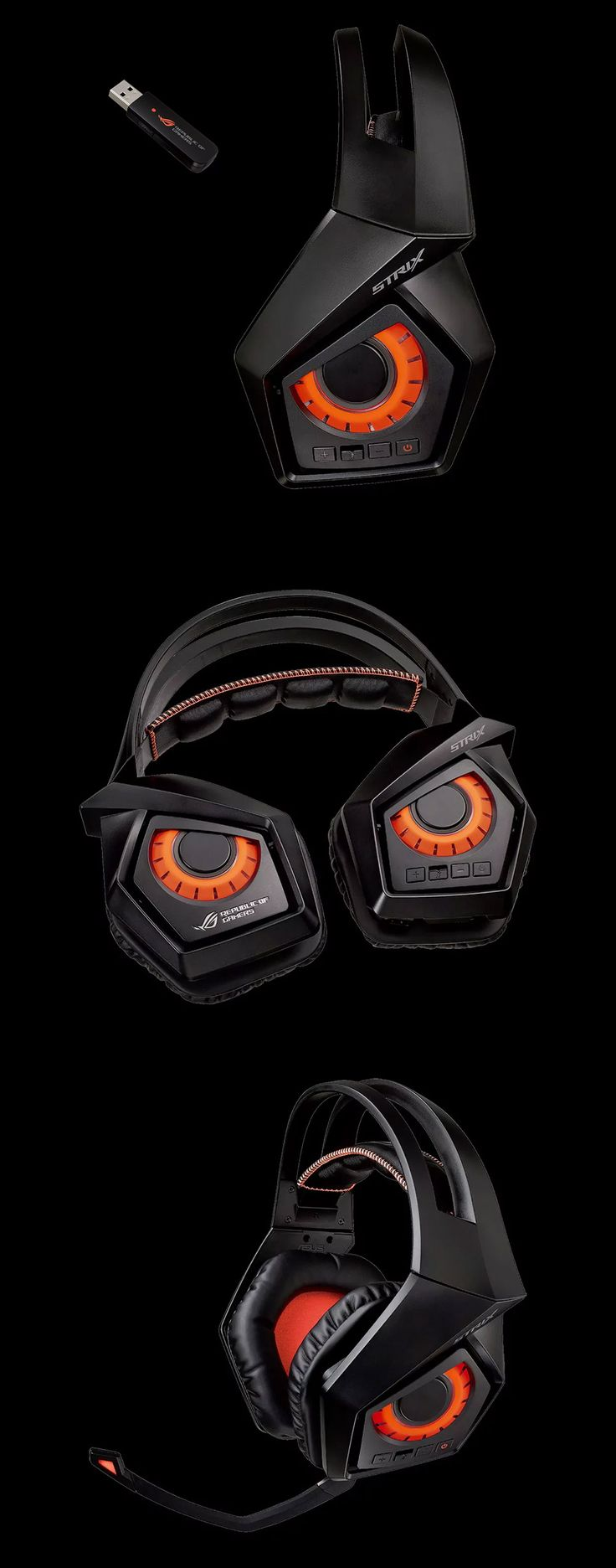 ASUS ROG Strix Wireless 7.1 Gaming Headset [ROG-STRIX-WIRELESS] : PC Case Gear