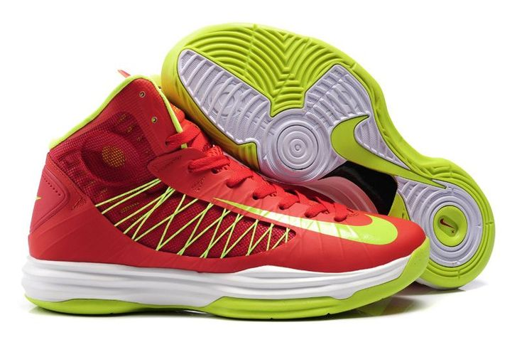 separation shoes eb11c 827cc Cheap Nike 2013 Womens Lunar Hyperdunk Sport Red Neon Green Basketball Shoes  For Sale