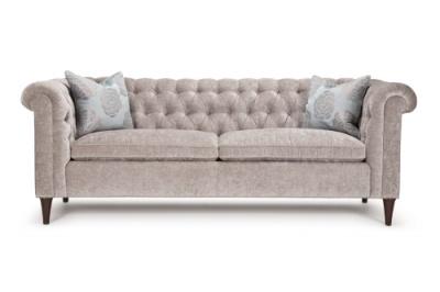 Stunning Dakota tufted sofa made in Canada
