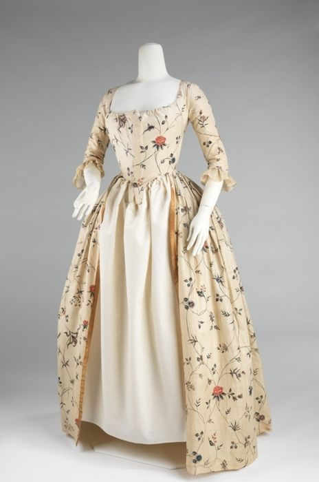 Robe à l'Anglaise ca. 1785-1795 via The Costume Institute of the Metropolitan Museum of Art
