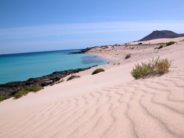 Spain, Canarias, Fuerteventura, La Oliva, El Moro Beach
