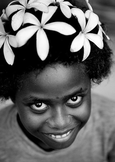 Girl From Autonomous Region Of Bougainville, Papua New Guinea.   © Eric Lafforgue   www.ericlafforgue.com