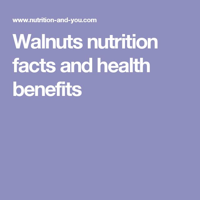 Walnuts nutrition facts and health benefits
