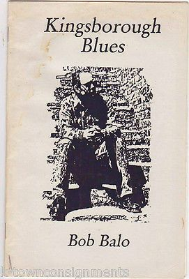 BOB BALO KINGSBOROUGH BLUES MUSICIAN VINTAGE AUTOGRAPH SIGNED LYRICS PROGRAM