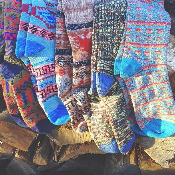 Stock up, sock up. #cozy #patterned #socks