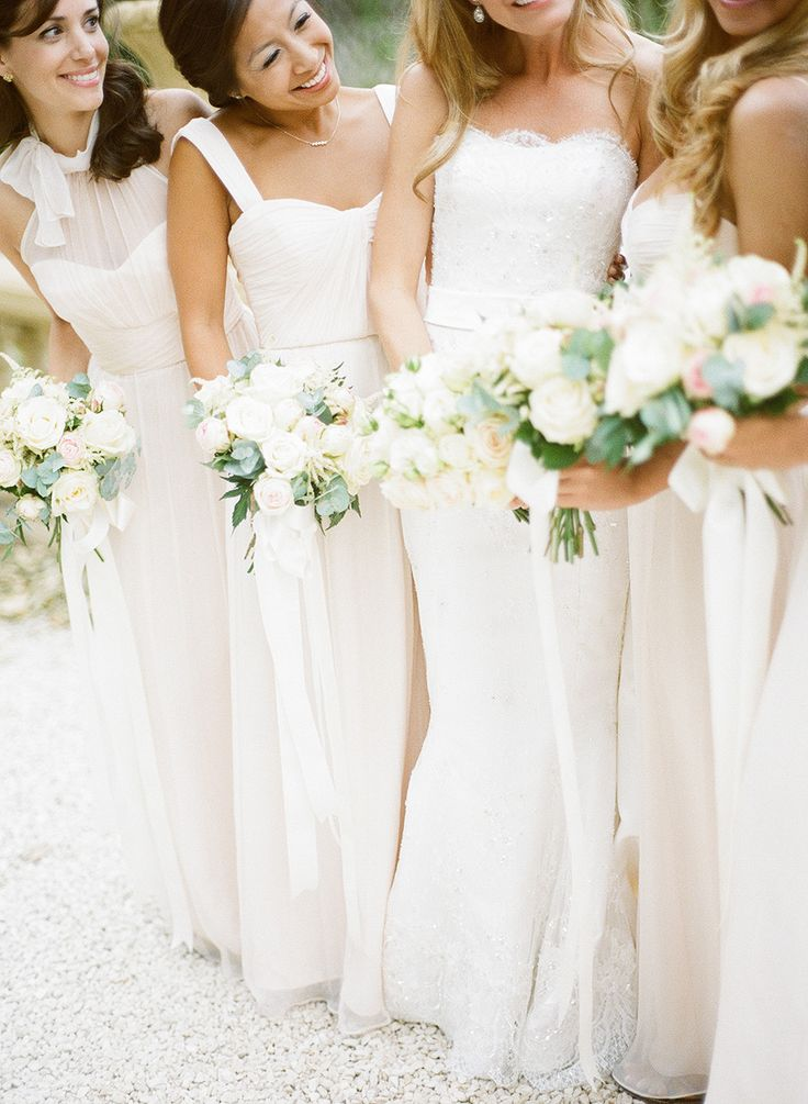 Gorgeous garden rose bouquets: http://www.stylemepretty.com/destination-weddings/2015/01/05/black-tie-french-chateau-wedding/ | Photography: Christina Brosnan - www.brosnanphotographic.com/