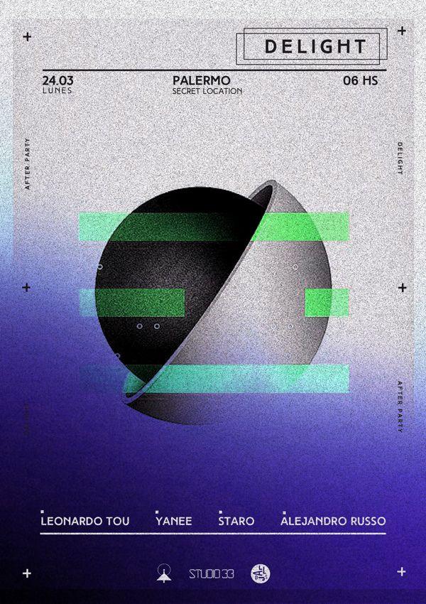 D E L I G H T - flyers by Bling Studio, via Behance