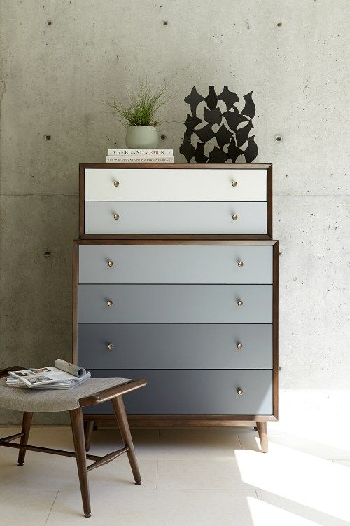 Modern dresser with ombré drawers