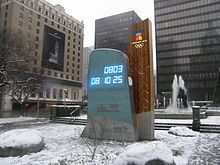 2010 Winter Olympics - Wikipedia - Countdown clock in Downtown Vancouver