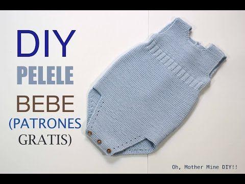 Tejer: pelele de bebé DIY (patrones gratis) | Manualidades