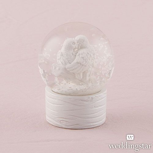 Miniature Love Bird Snowglobes - Weddingstar