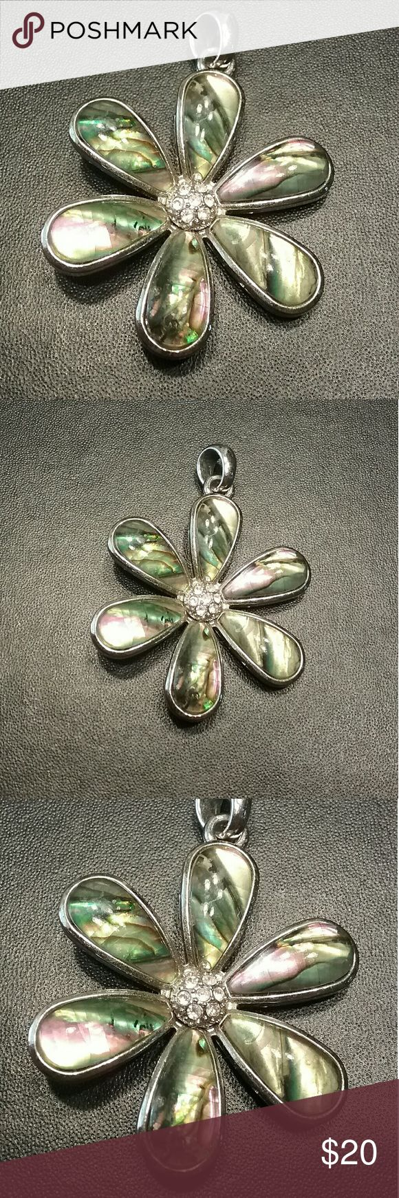 Lia Sophia abalone she'll flower necklace In great shape Like new Will come with chain 4676 Lia Sophia Jewelry Necklaces