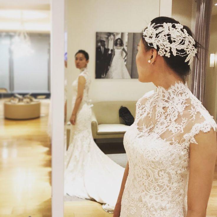 いいね!46件、コメント1件 ― ai_wdさん(@ai_da_wd)のInstagramアカウント: 「ブラウスオンがクラシカルなスタイルを演出してくれる♡. . . #wedding #weddingdress #ウェディングドレス #プロノビアス #pronovias #マーメイド  #プレ花嫁…」
