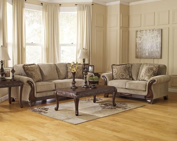 lanett barley sofa loveseat 2pc set living room sale