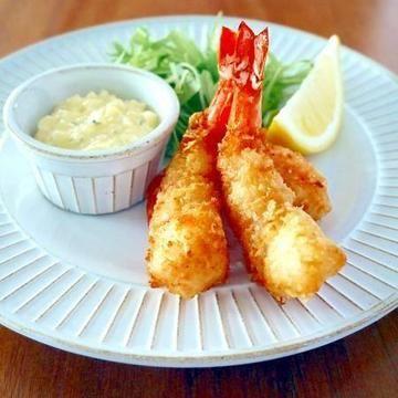 昔ながらの洋食屋さんエビフライ♪定番レシピをもっと簡単に!