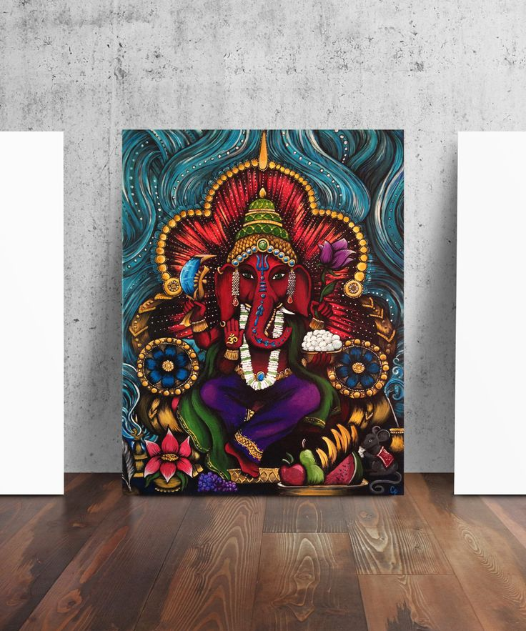 Ganesh Elephant Hindu Art Ganesha Print by Catherine Dolch by TheContraryCaptain on Etsy https://www.etsy.com/listing/259162118/ganesh-elephant-hindu-art-ganesha-print