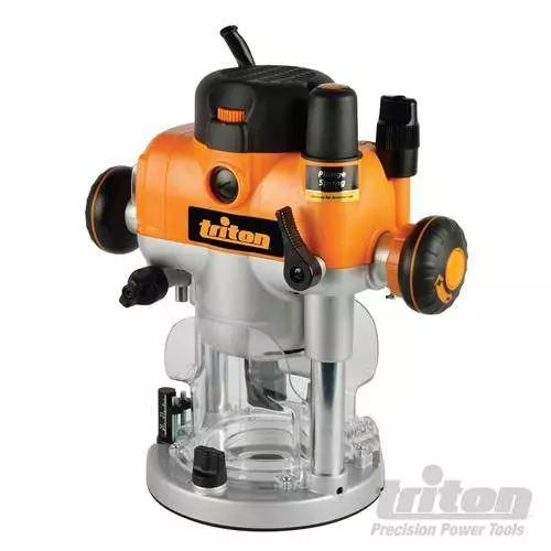 Triton 330165 Dual Mode Precision Plunge Router is the most Powerful 2400W electronically controlled motor with Automatic shaft lock...EAN 5024763043307