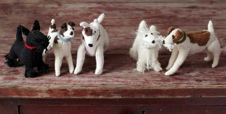 """#terriers from the book """"Knit Your Own Dog! great #gift for a crafty dog owner!"""