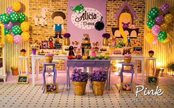 Pink Ateliê de Festas: Festa Rapunzel - Enrolados