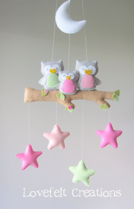 Baby mobile  Owl mobile  Baby crib mobile  by GiseleBlakerDesigns