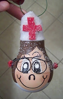 nurse light bulb ornament
