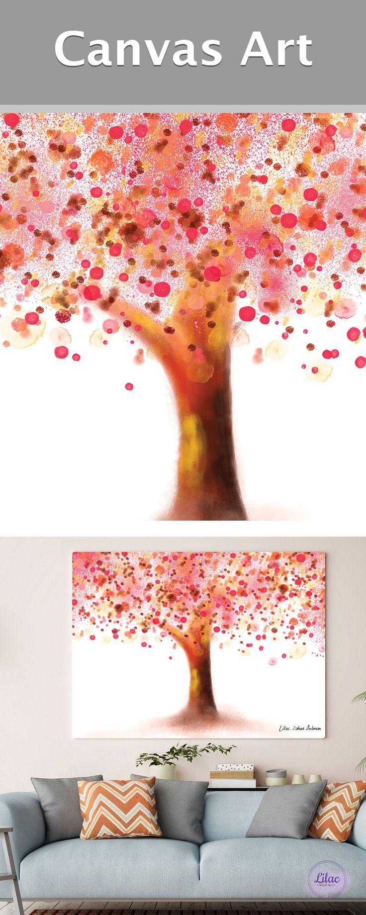 Tree Wall Art Canvas Art Tree Tree Painting Tree Canvas Wall