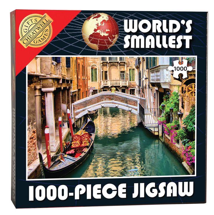 Cheatwell Games World/'s Smallest Puzzle 1000 pièces canaux de Venise