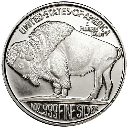 Buffalo Silver Rounds are 1 Troy Ounce of fine Silver, making then a perfect way to take advantage of the current Silver price. Each coin contains a hallmark stamped on it to guarantee its weight and purities. Buffalo Silver Rounds carry some of the lowest premiums over the spot price of Silver, which makes them very easy to  sell, trade, or barter with, anywhere in the world.