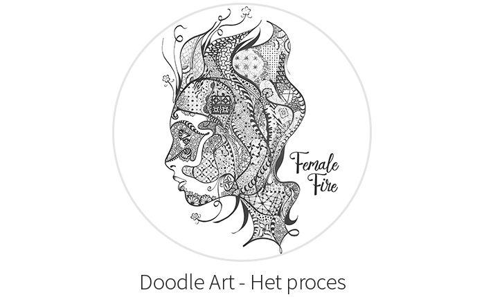 Doodle Art - Het proces van lijn tot ingewikkeld patroon