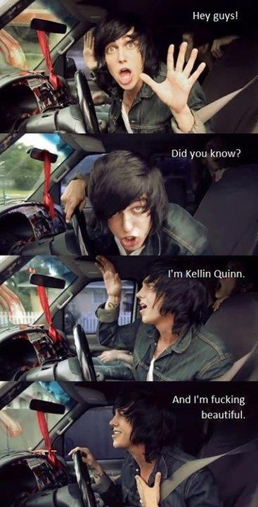 Kellin Quinn. It's funny because Jenn and I were having a conversation this morning about how gorgeous Kellin is. lol More
