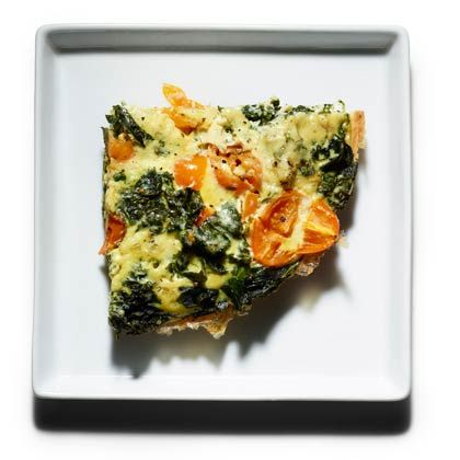 Braised Kale Frittata...simple and tasty. I'm going to try using all egg whites.