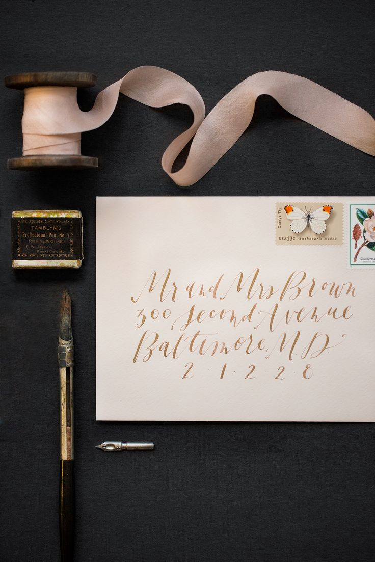 Wedding stationary Calligraphy and paper design by