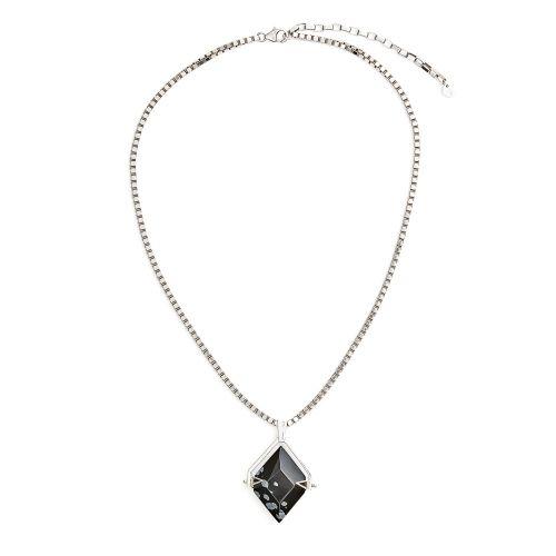 Spinner Silver Snowflake Obsidian
