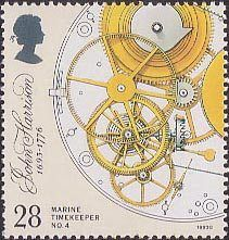 Marine Timekeepers 28p Stamp (1993) Escapement, Remontoire and Fusee
