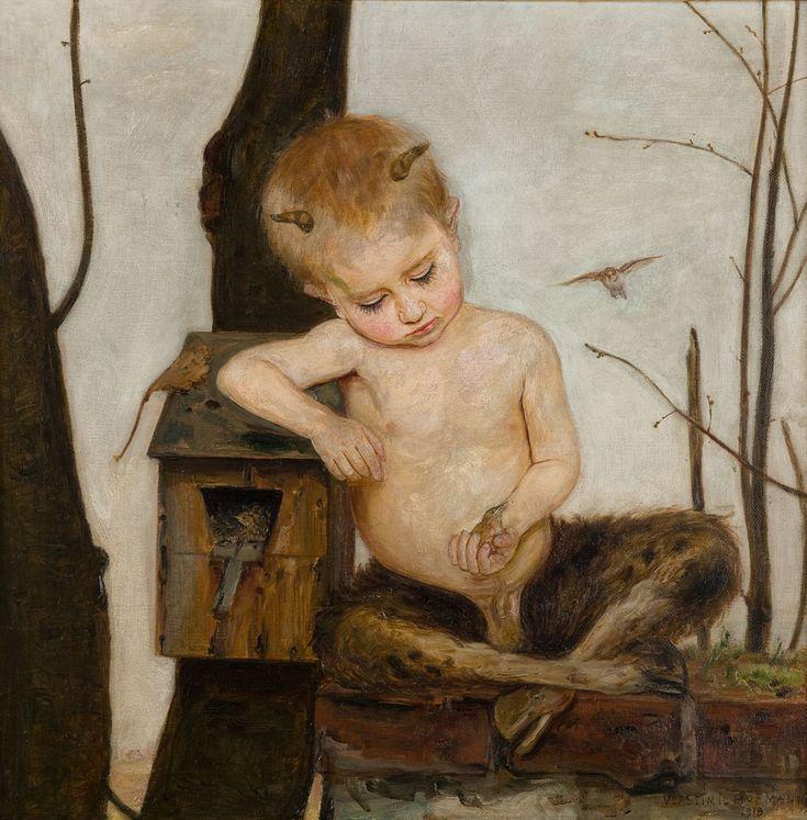 Vlastimil Hofman, Wiosna, 1918 #birds #ptaki #kolekcjaMNK #MNKcollection #kolekcja