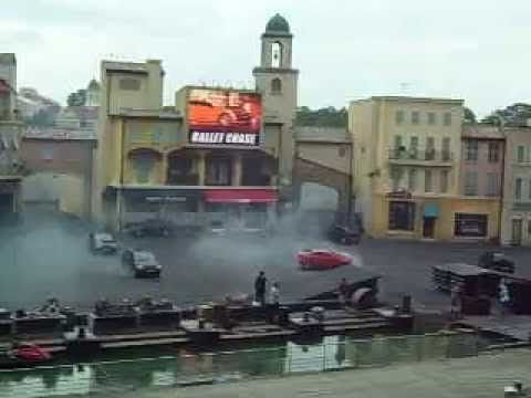 Lights Motor Action Extreme Stunt Show at Walt Disney World ---- Lights Motor Action Extreme Stunt Show at Disney World - the show runs for just under 40 minutes, and includes of car-based action, pyrotechnics, jet ski chases, and physical stuntwork. ___ The Moteurs... Action! Stunt Show Spectacular or Lights, Motors, Action! Extreme Stunt Show is a stunt show  formerly performed at Disney's Hollywood Studios theme park in Lake Buena Vista, Florida. ___ Disney World - Lake Buena Vista, Flo