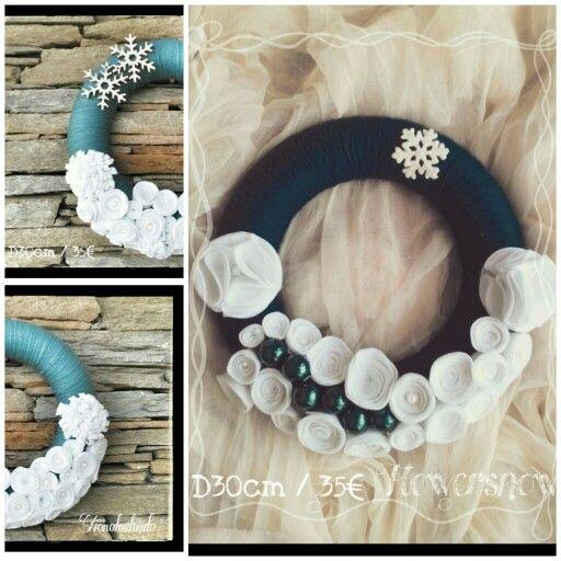 Handmade flowers felt xmas wreaths!!! D30