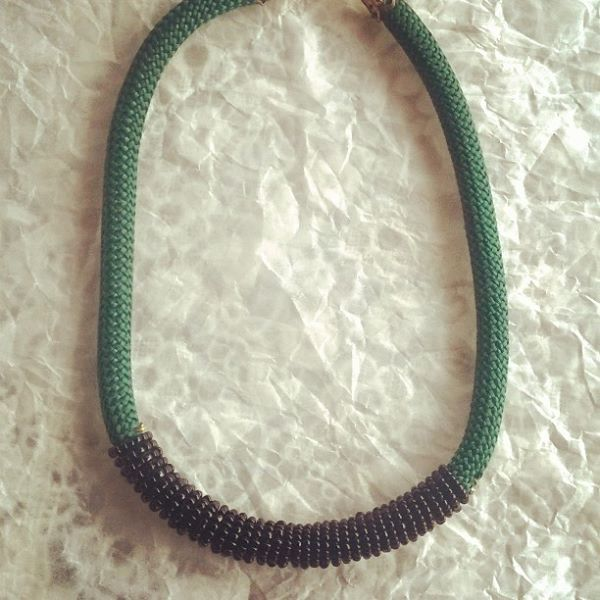 rope and bead necklace by miranta kosmidou