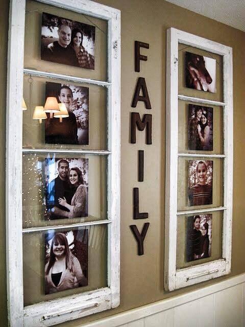 Window Pain Picture Frames Rustic Decor Ideas