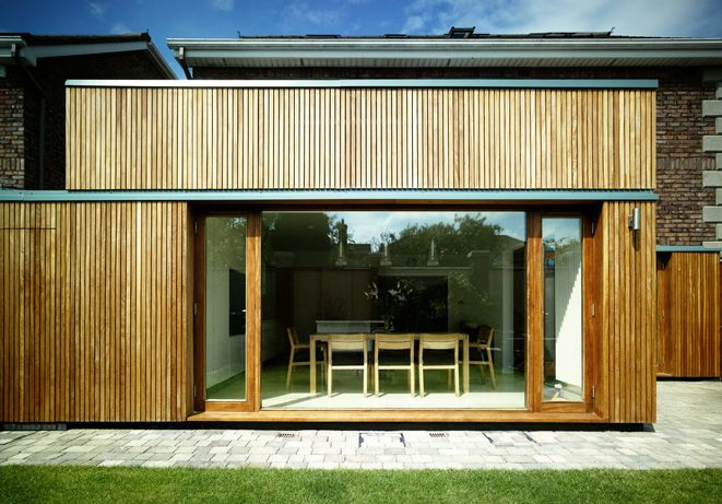Iroko cladding and joinery
